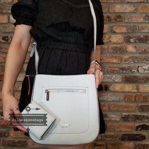 Kate Spade MEDIUM top zip crossbody leila wallet